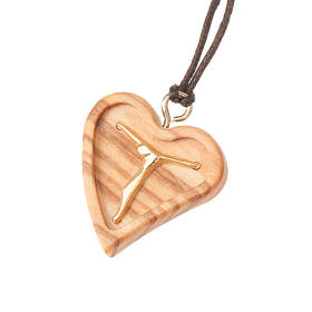 Pendant carved heart with Christ body s1