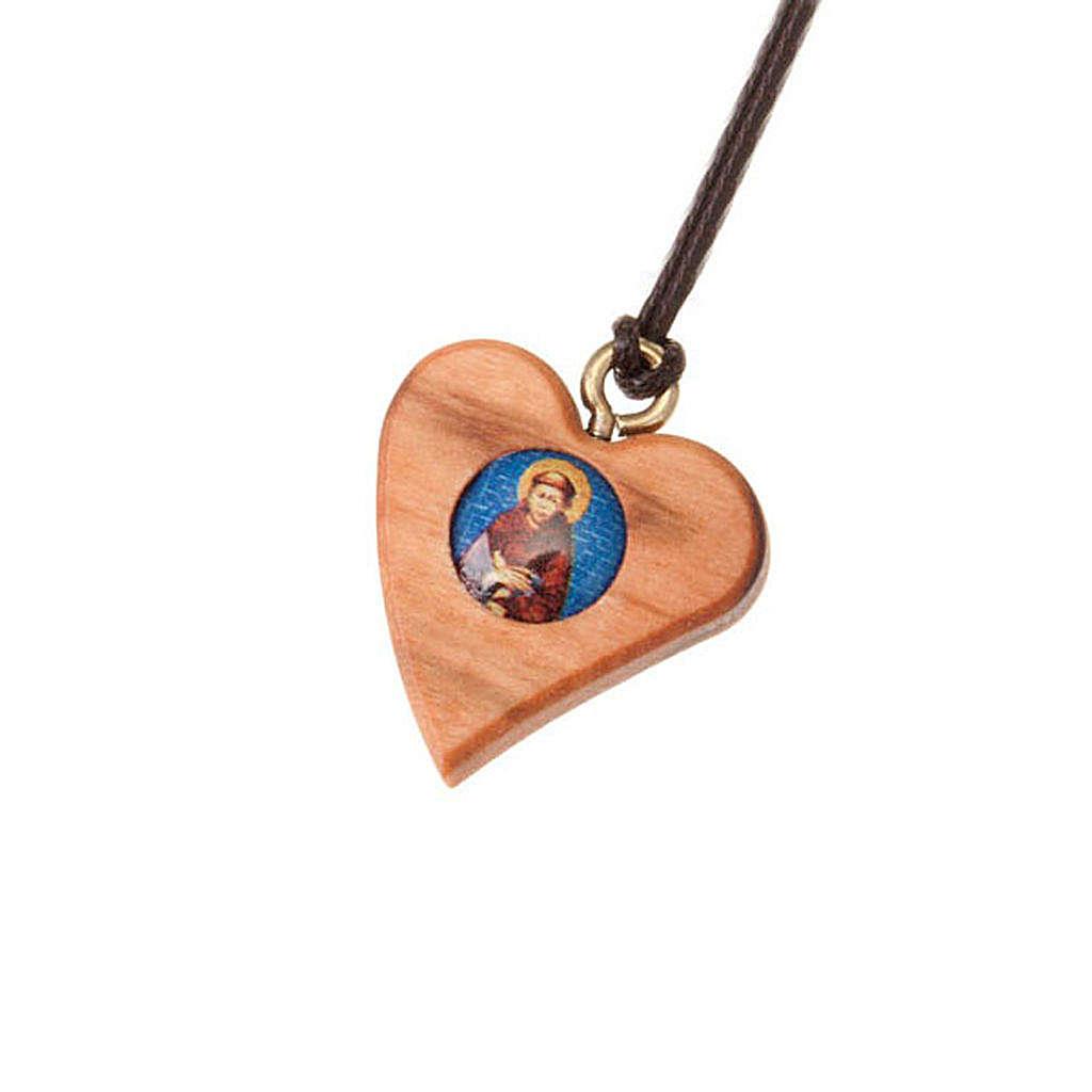 Pendente cuore san Francesco 4