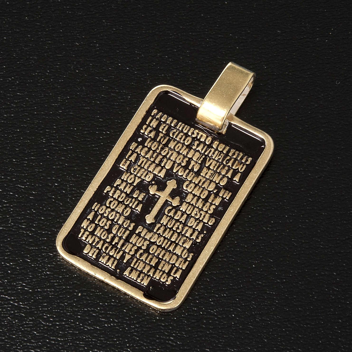 Medalla de oración Padre Nuestro en bronce 4