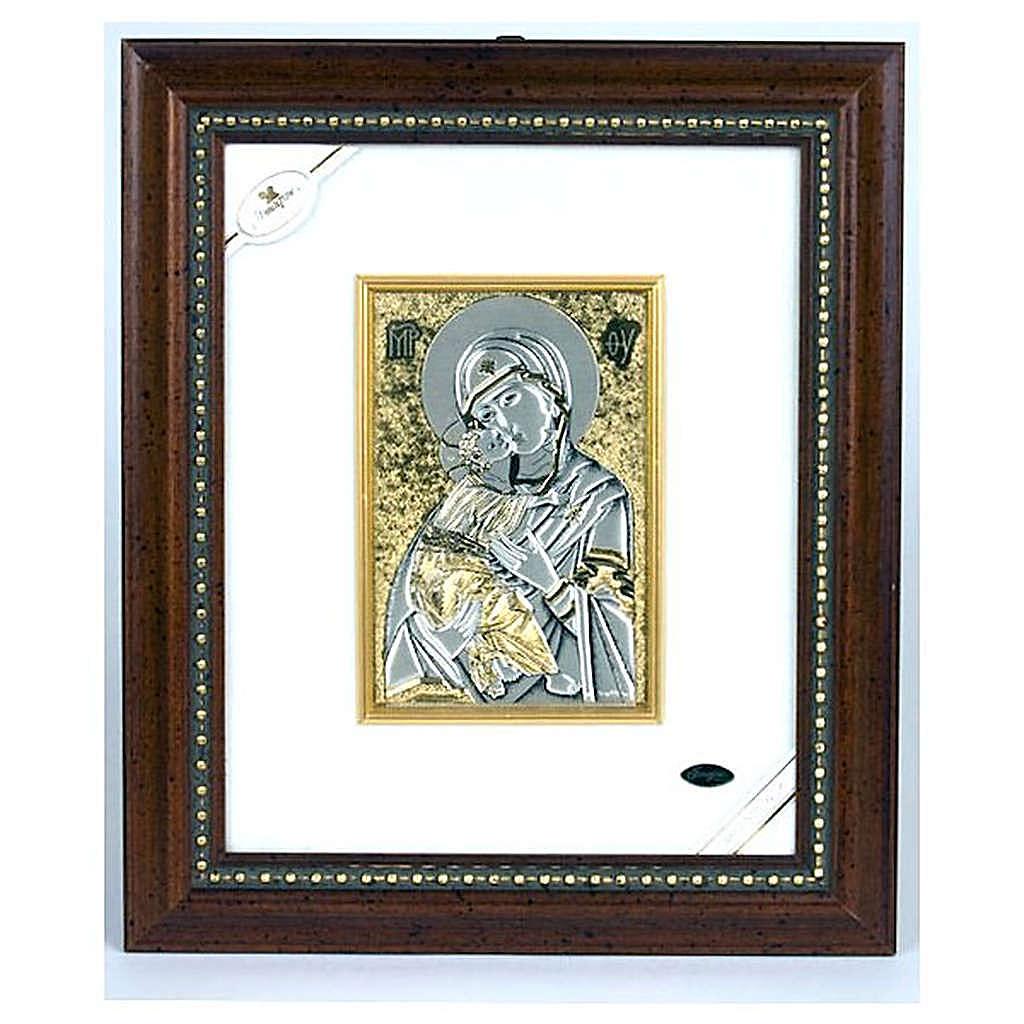 Vierge avec enfant en argent 4