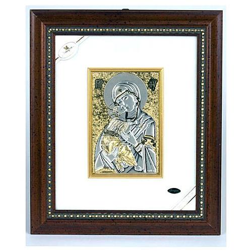 Quadro Maria e il Bimbo argento 1