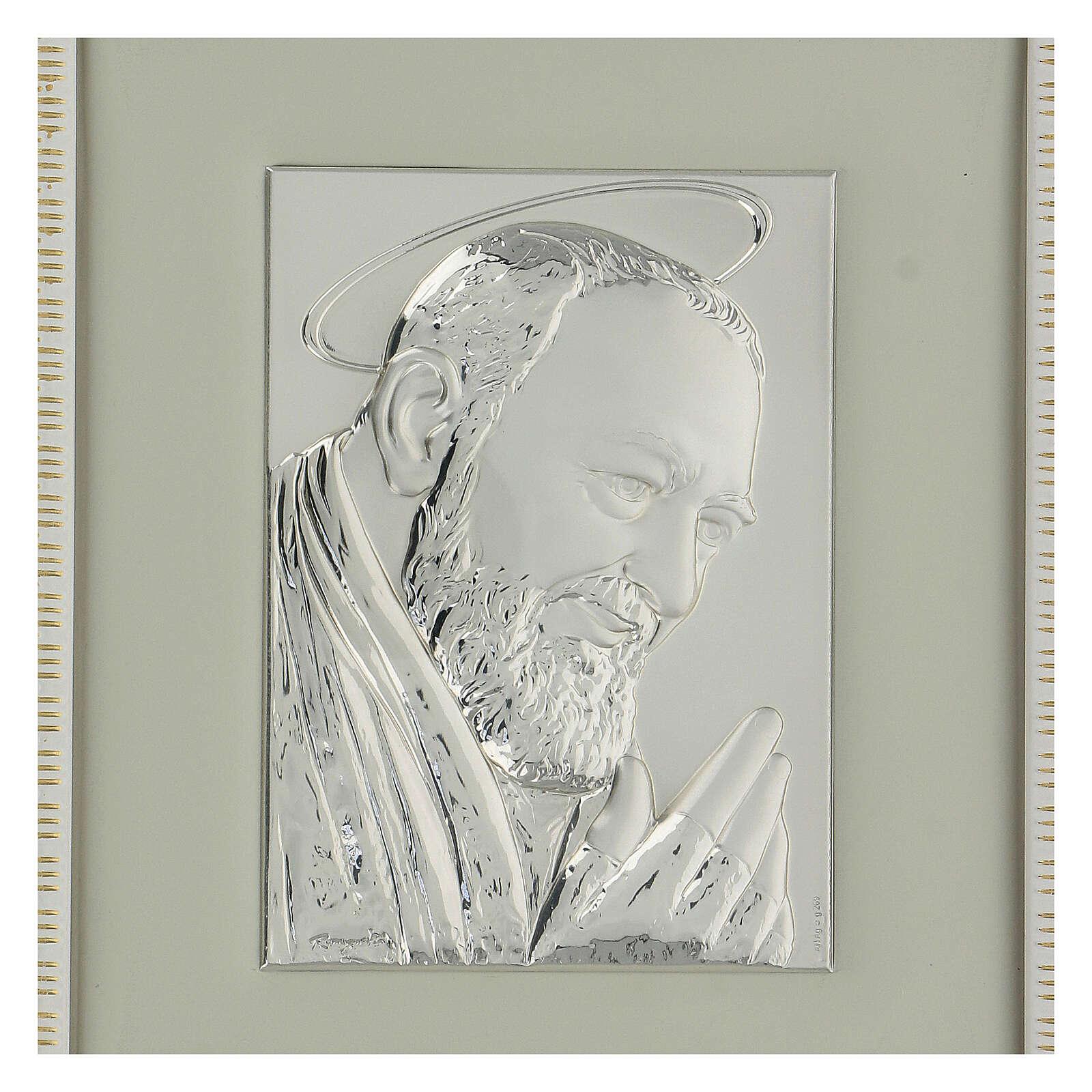 Padre Pio de Pietralcina en argent 4