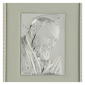 Padre Pio de Pietralcina en argent s2