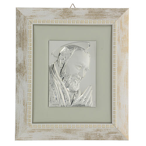 Padre Pio de Pietralcina en argent 1