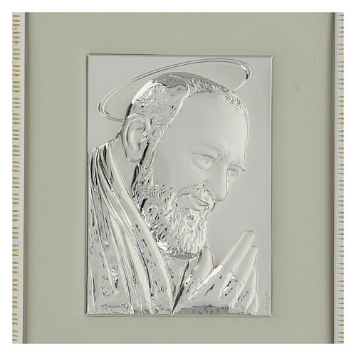 Padre Pio de Pietralcina en argent 2