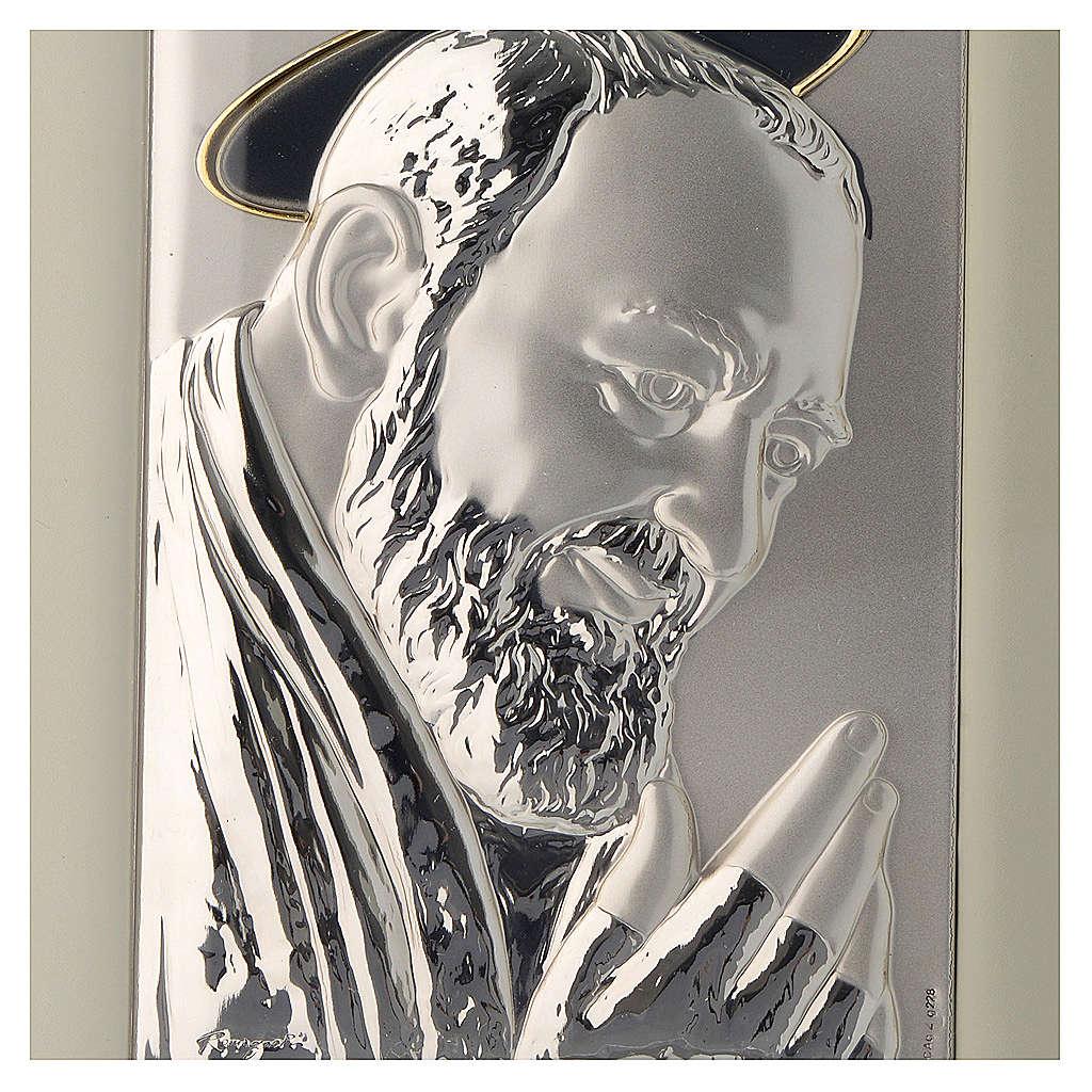 Quadro Padre Pio da Pietrelcina argento 4