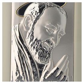 Quadro Padre Pio da Pietrelcina argento s2