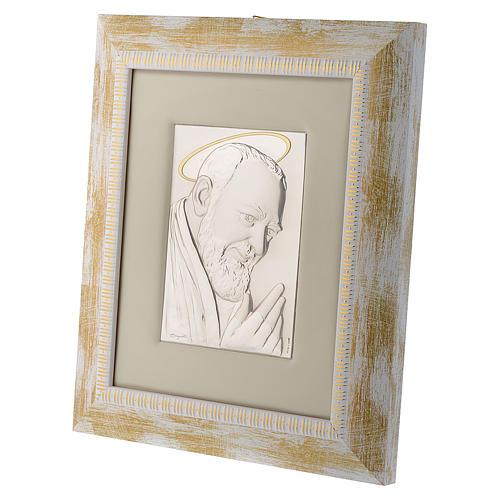 Quadro Padre Pio da Pietrelcina argento 3