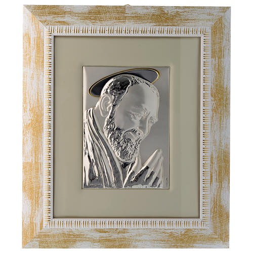 Quadro Padre Pio da Pietrelcina argento 1