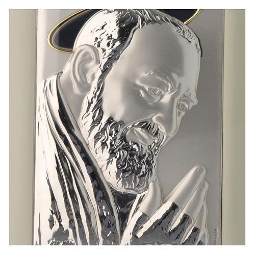 Quadro Padre Pio da Pietrelcina argento 2