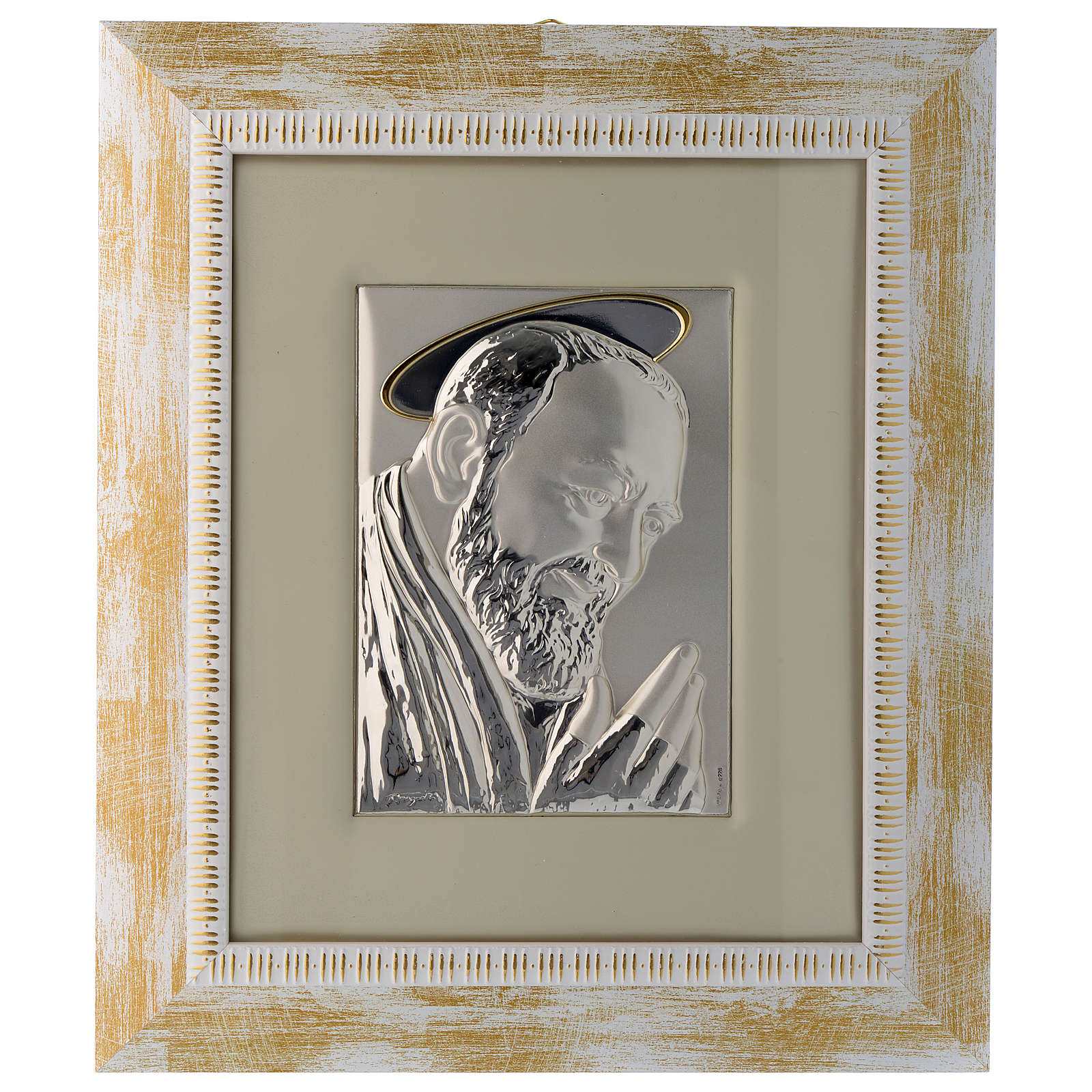 Father Pius from Pietrelcina in silver 4