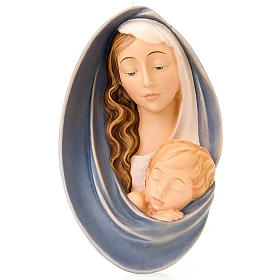 Virgen en relieve de madera