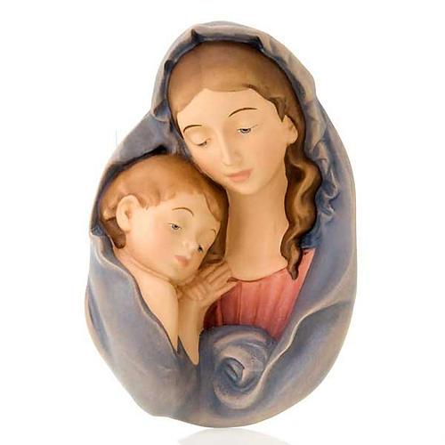 Virgen y el Niño relieve de madera 1