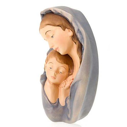 Virgen y el Niño relieve de madera 2
