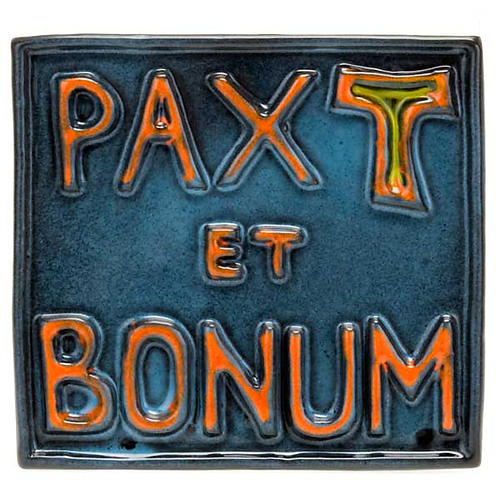 Pax et Bonum ceramic basrelief 1