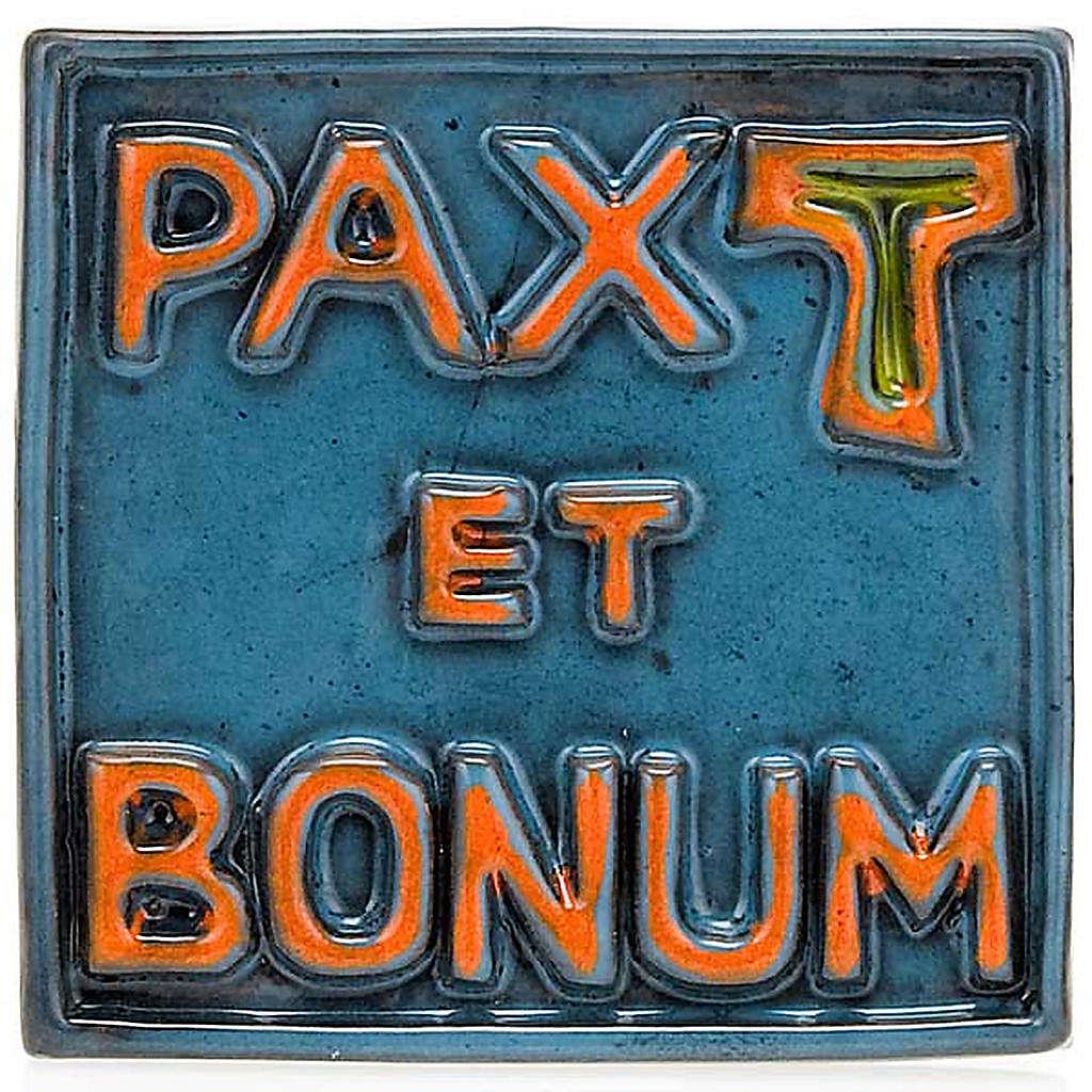 Pax et Bonum small ceramic basrelief 4