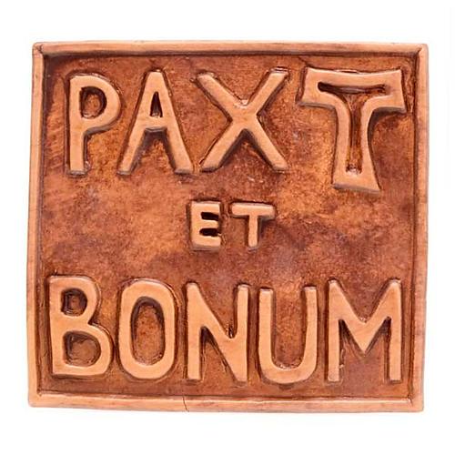 Pax et Bonum small ceramic basrelief 1