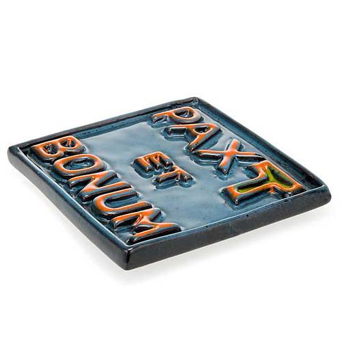 Pax et Bonum small ceramic basrelief 3