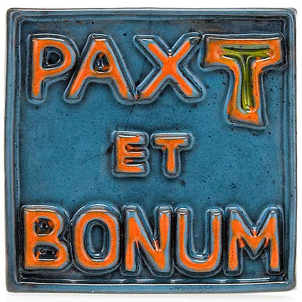 Relieve mini cerámica Pax et Bonum 4