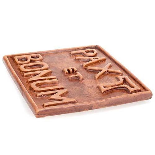 Relieve mini cerámica Pax et Bonum 2
