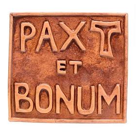 Relief en céramique Pax et Bonum petite taille s1
