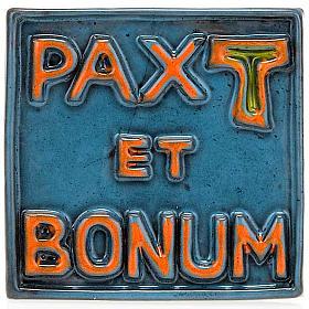 Relief en céramique Pax et Bonum petite taille s4