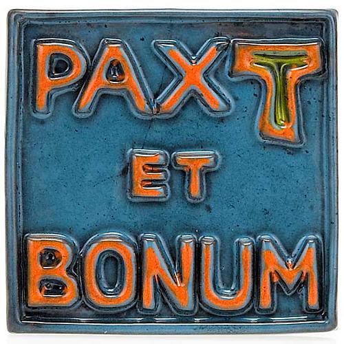 Relevo mini cerâmica Pax et Bonum 4