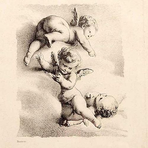 Angeli  su nuvola stampa Firenze 2