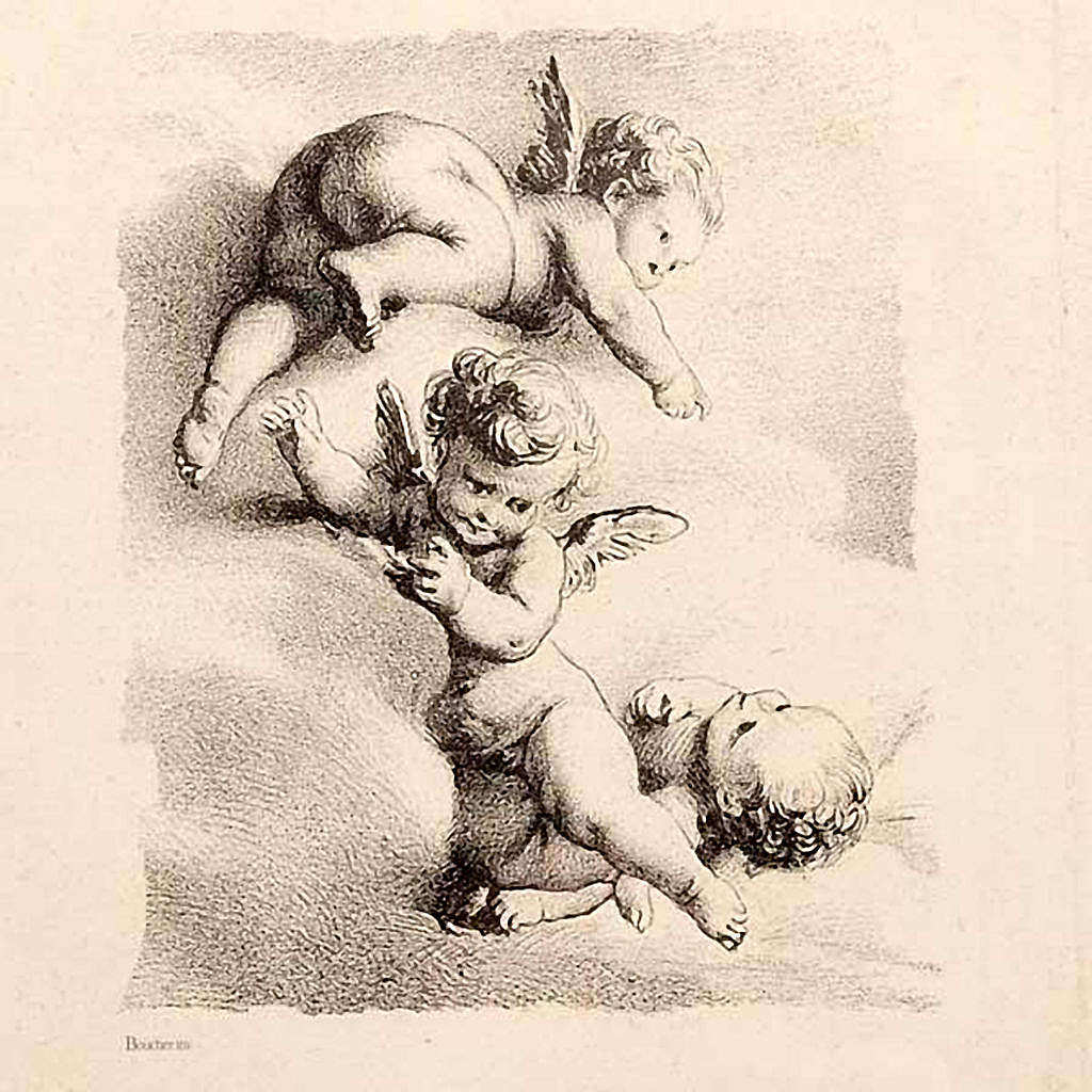 Angels on a cloud, Florentine print 3