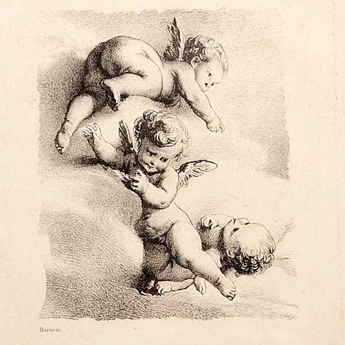 Angels on a cloud, Florentine print 2