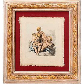 Angeli  dipinti su nuvola stampa Firenze s1