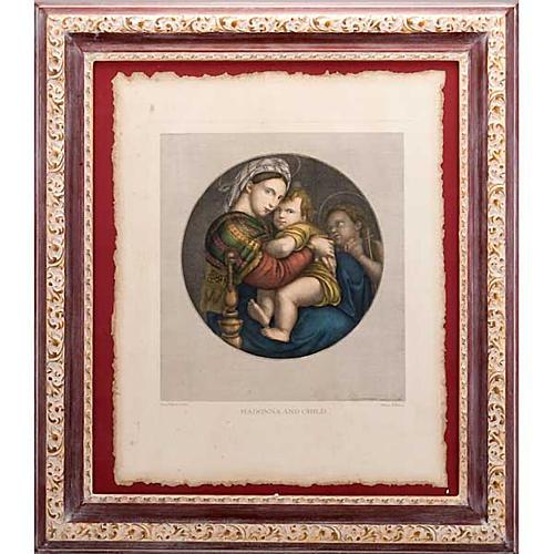 """Impressão """"Madonna della Seggiola"""" Florença"""