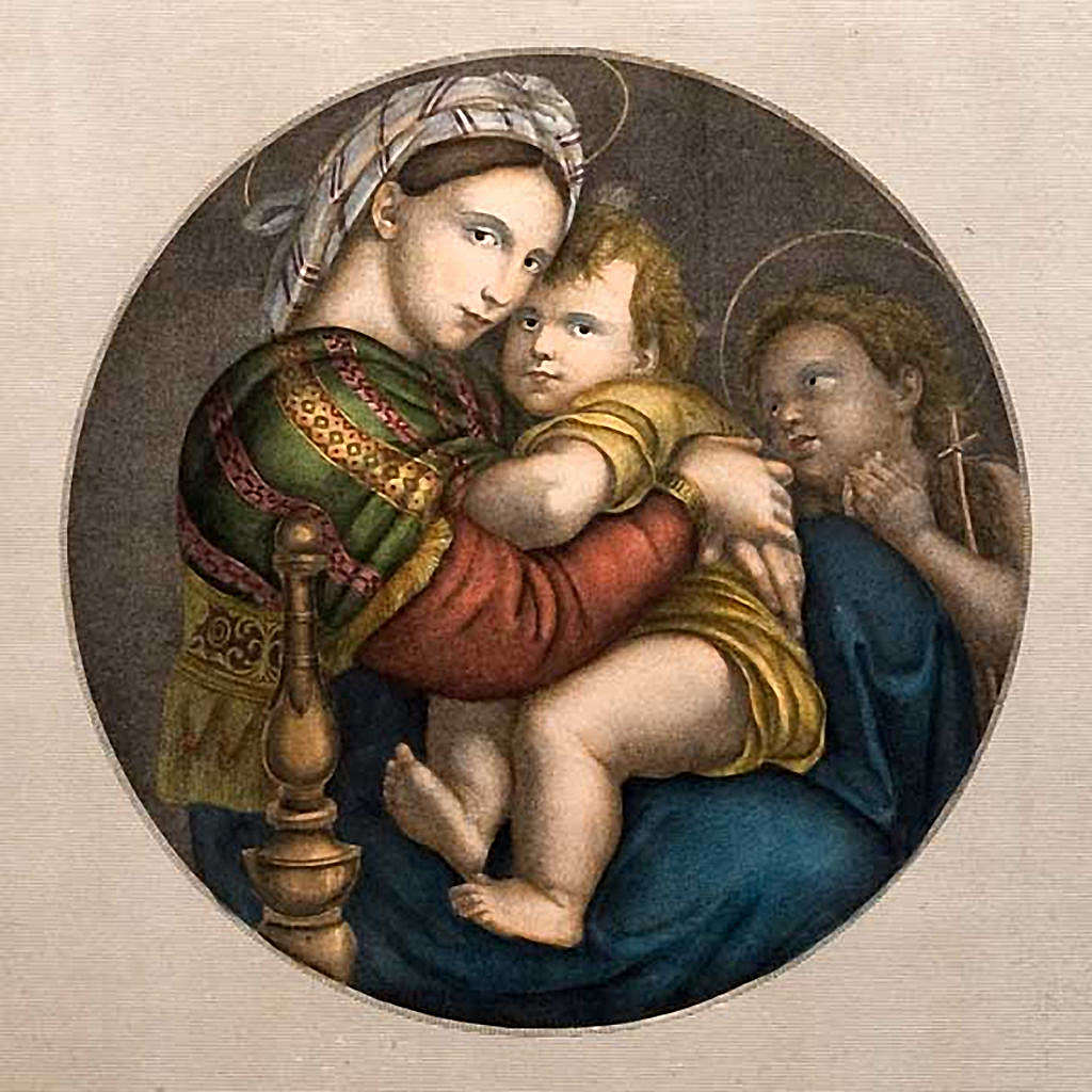 Madonna of the chair, Florentine print 3
