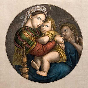 Madonna of the chair, Florentine print s3