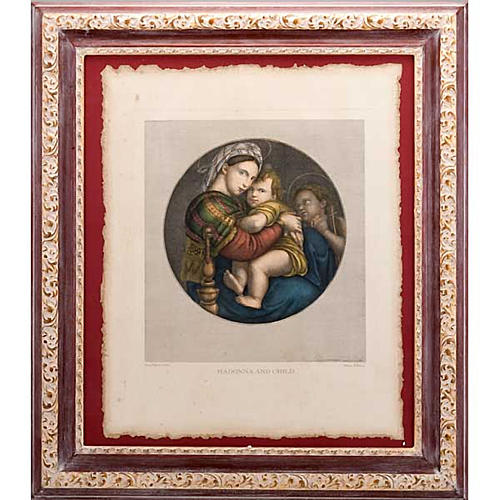Madonna of the chair, Florentine print 1