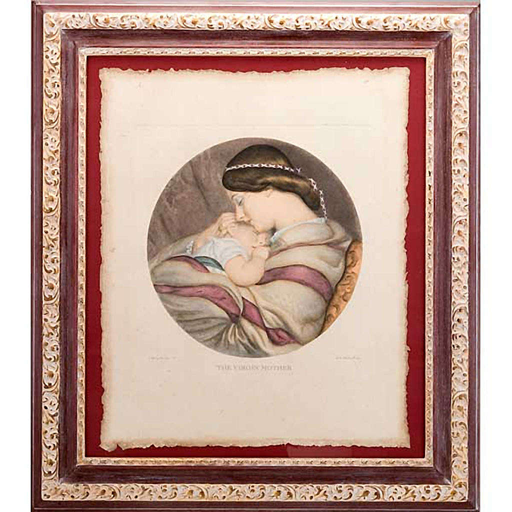 Madonna with the baby, Florentine print 3