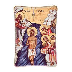 Quadri, stampe, codici miniati: Battesimo di Gesù stampa da tavolo