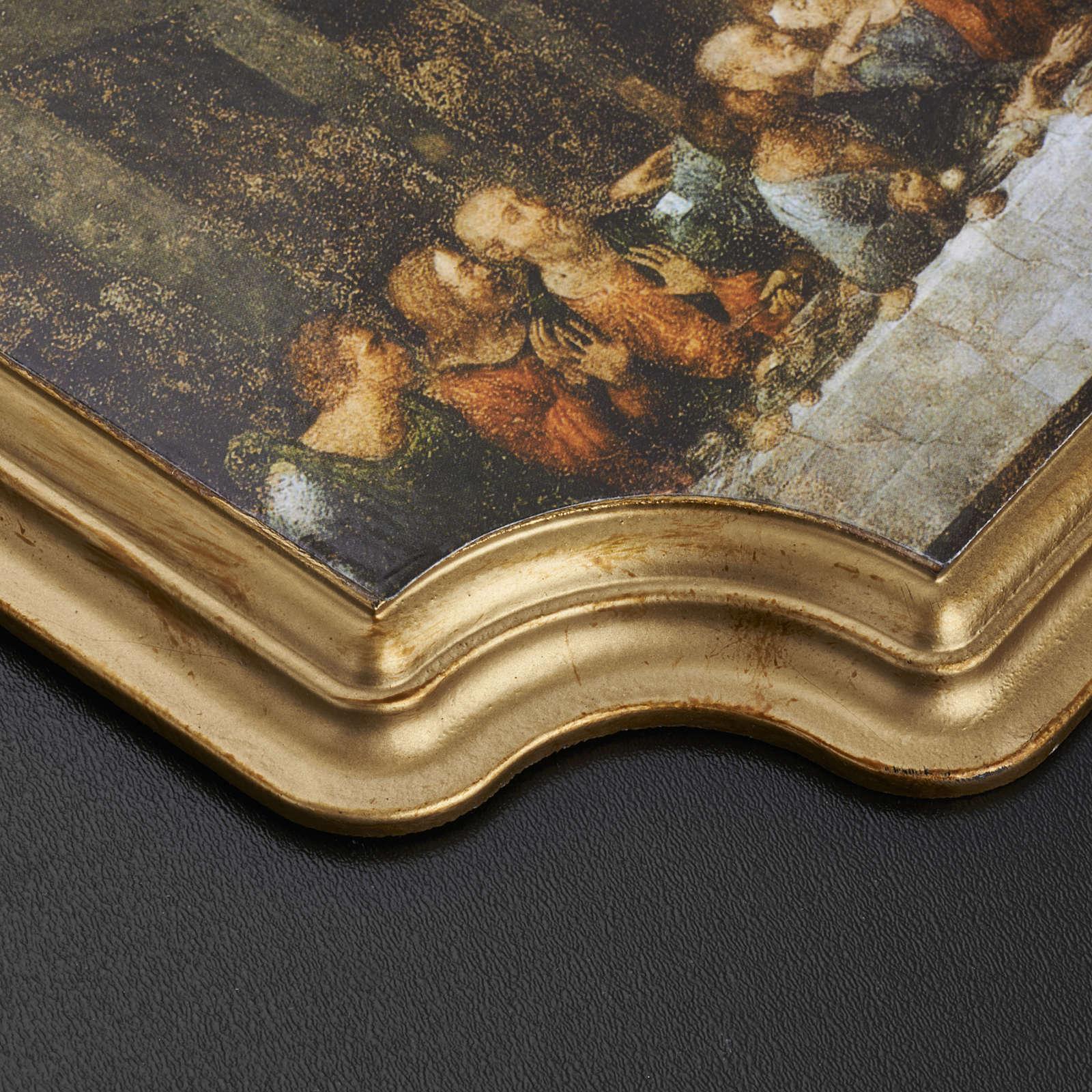 Quadro Ultima Cena cornice dorata 27x20 cm 3