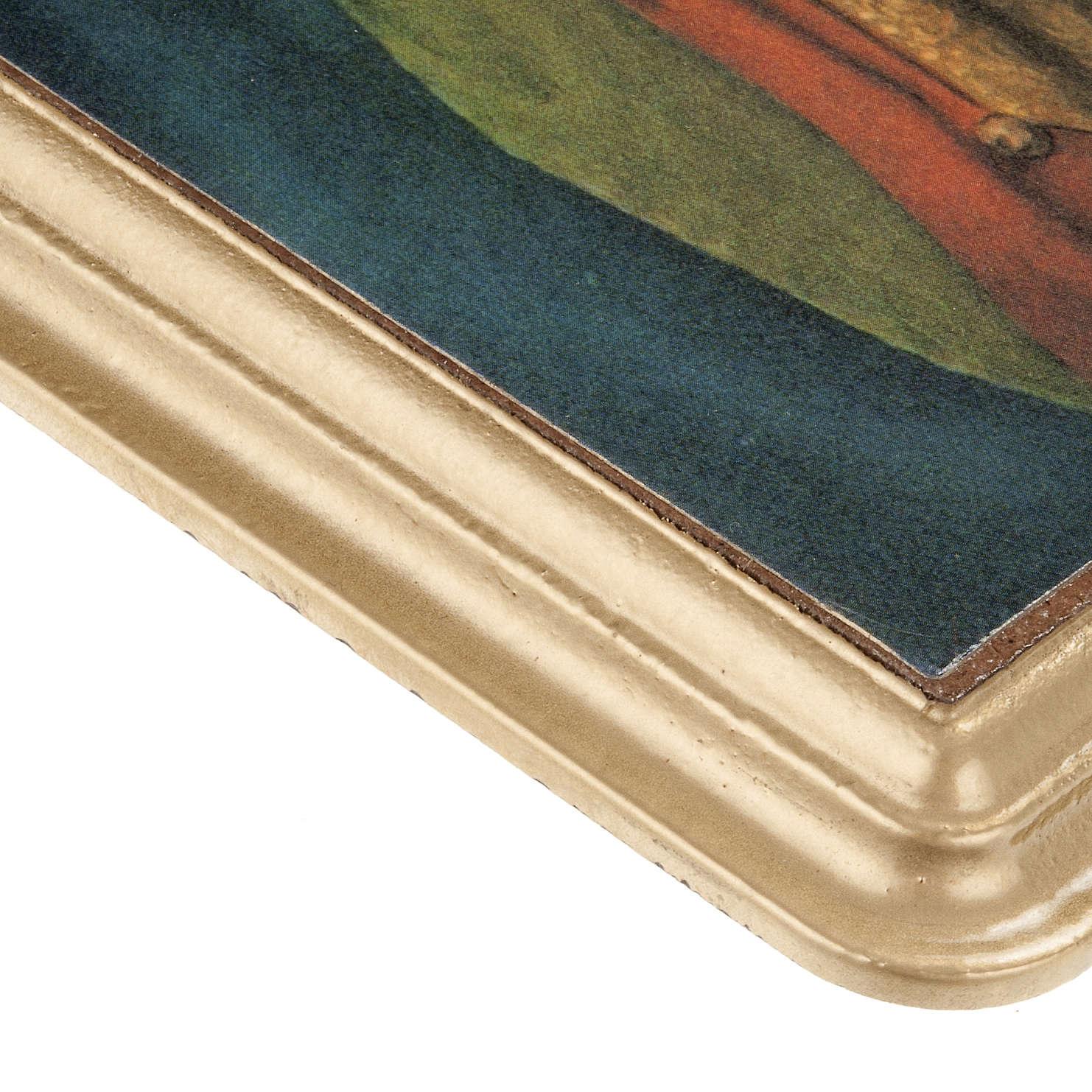 Cuadro Virgen del Buen Consejo marco dorado 3