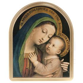 Cuadro Virgen del Buen Consejo marco dorado s1