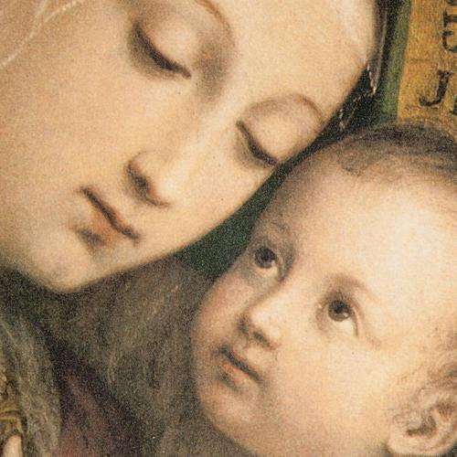 Cuadro Virgen del Buen Consejo marco dorado 2