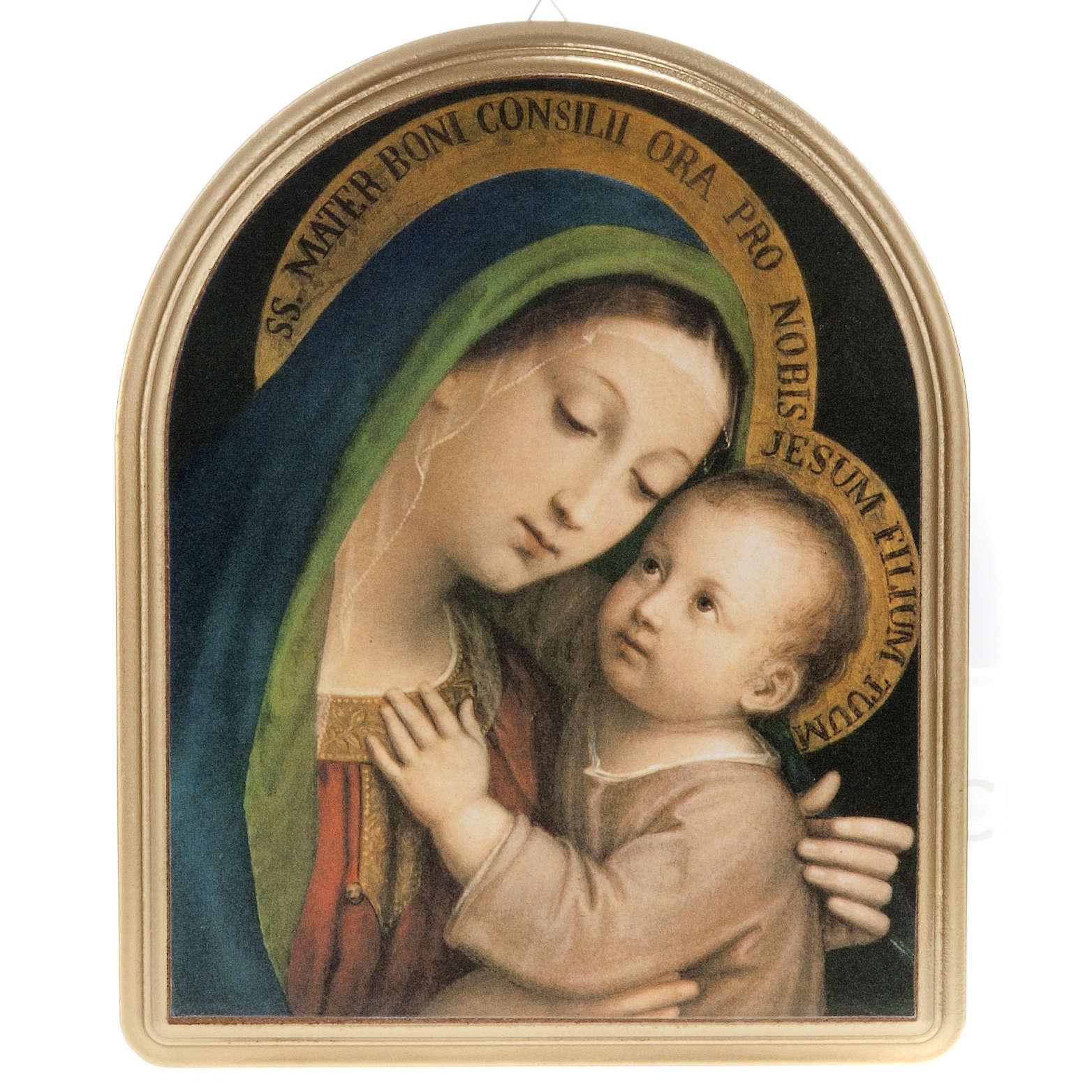 Quadro Madonna del Buon Consiglio cornice dorata 3
