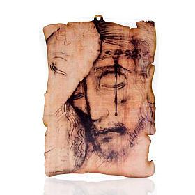 Quadrinho madeira pergaminho Santa Face s1