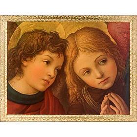 Stampa Angeli su legno con cornice s1