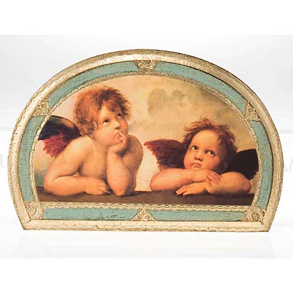 Stampa Angeli di Raffaello su legno 3