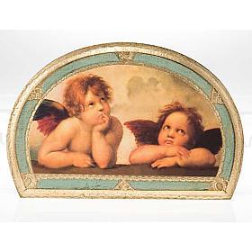 Stampa Angeli di Raffaello su legno s4