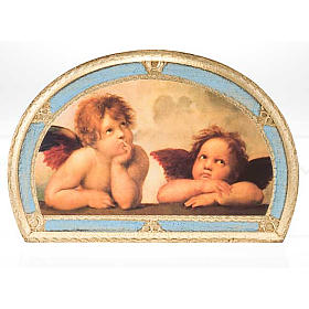 Stampa Angeli di Raffaello su legno s7