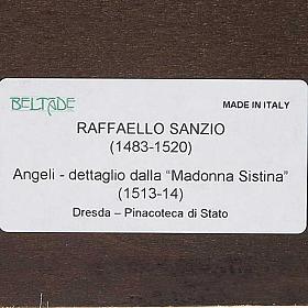 Stampa Angeli di Raffaello su legno s8