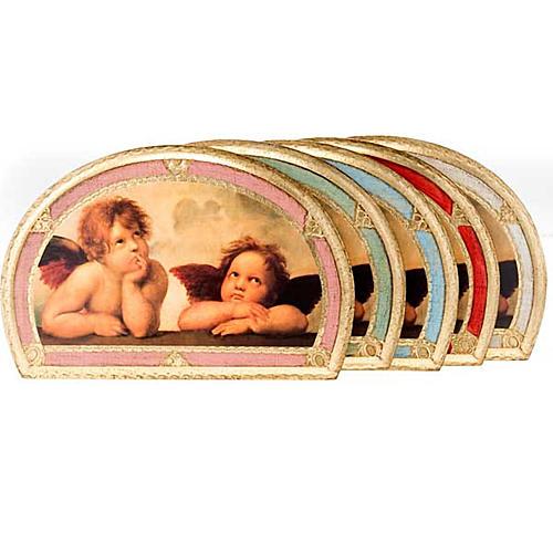 Stampa Angeli di Raffaello su legno 1