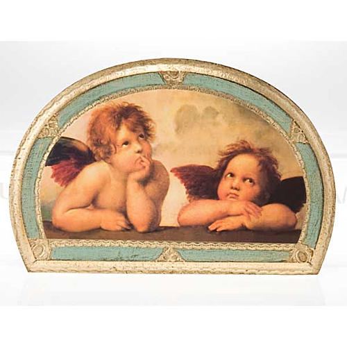 Stampa Angeli di Raffaello su legno 4